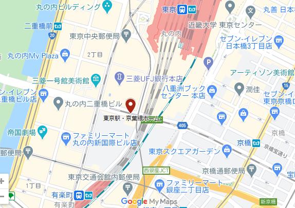 京葉線ホームの位置