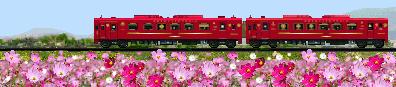 ことこと列車のイラスト コスモス