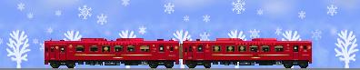 ことこと列車のイラスト雪