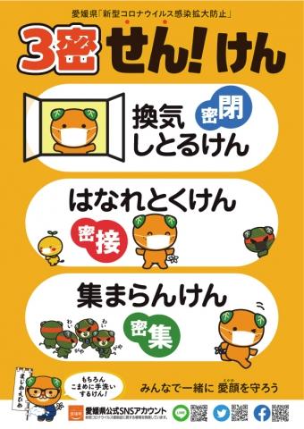新型コロナウイルス感染拡大防止「3密回避行動啓発ポスター」