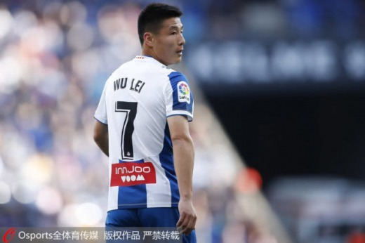 Wu Lei the Chinese striker of LaLiga club Espanyol, has been tested positive of COVID19