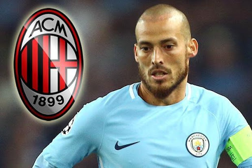 David Silvas contract expires at the end of the season and AC Milan have met with his agents