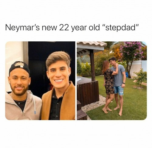Neymars new 22 year old stepdad