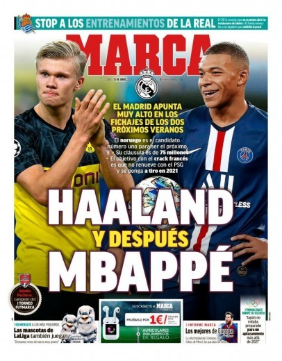 Real Madrid aiming very high in the next two summer transfers Haaland then Mbappé
