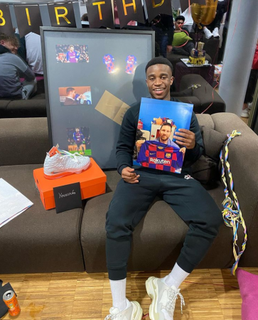 Messi sent Youssoufa Moukoko a gift for his fifteenth birthday