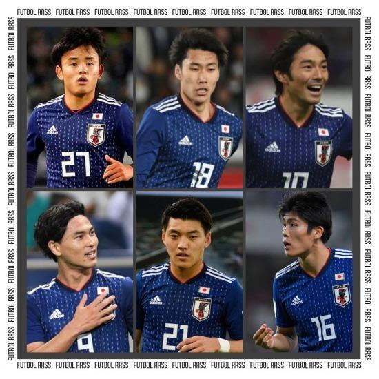 Kubo, Kamada, Nakajima, Minamino, Doan Tomiyasu