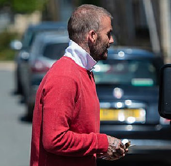 David Beckham sparked rumours he had a hair transplant two years ago