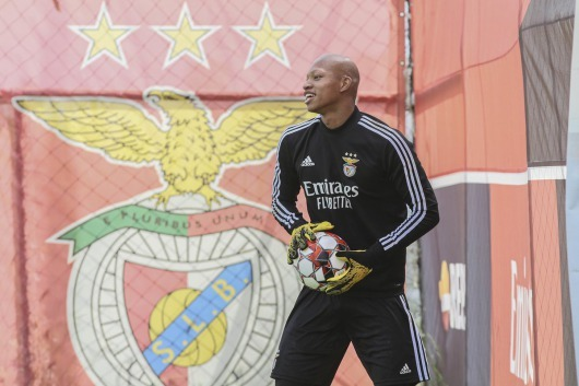 Leo Kokubo trained today with the SL Benfica main team
