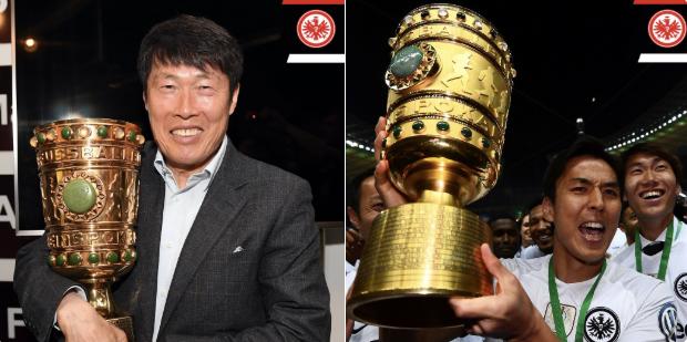 Hasebe Cha Bum-kun DFB Pokal winner