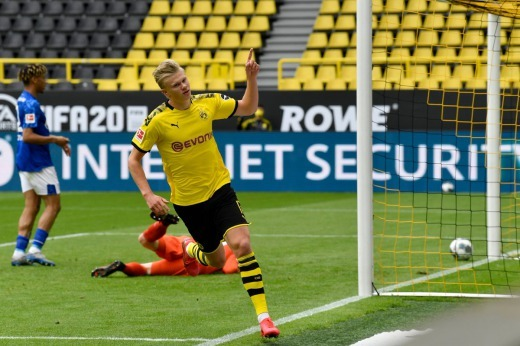 Erling Haaland scores the Bundesligas first goal for 66 days