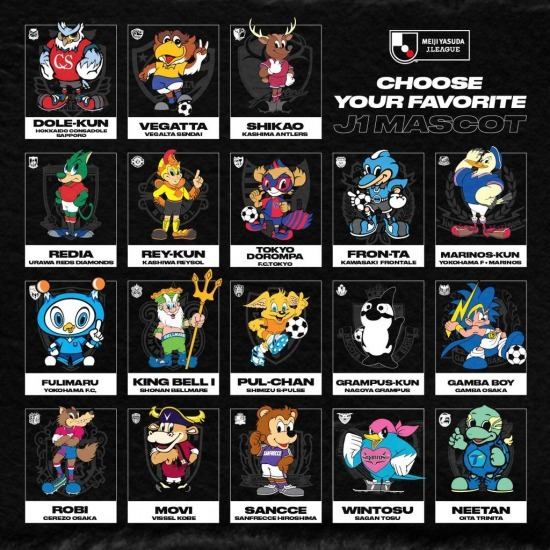 Here are the 18 mascots of the 2020 Meiji Yasuda J1 League Do you have a favorite