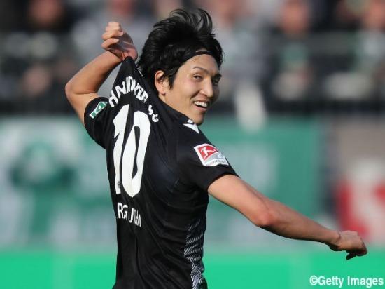Osnabrück 2-[4] Hannover Genki Haraguchi goal