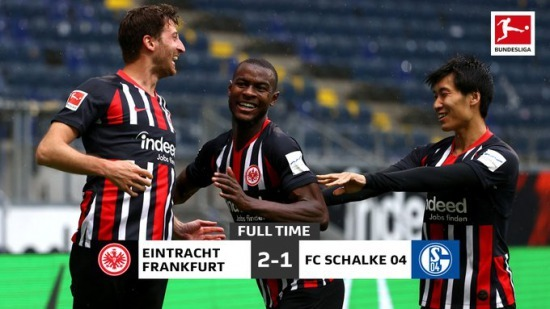 Eintracht Frankfurt 1-0 Schalke André Silva Kamada assist