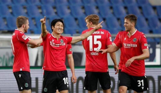 Hannover 3-0 St Pauli Genki Haraguchi goal
