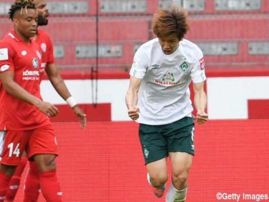 Osako Yuya goal Mainz 3_1 Werder Bremen