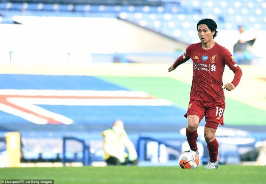 Minamino started for Liverpool but the January signing struggled to make an impact and was substituted at half time