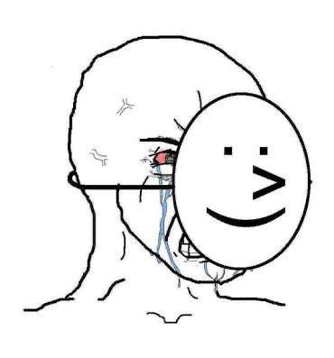 laughing crying mask meme