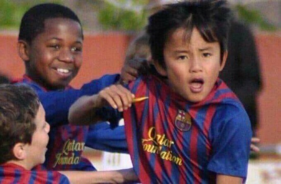 Kubo and Ansu Fati at La Masia