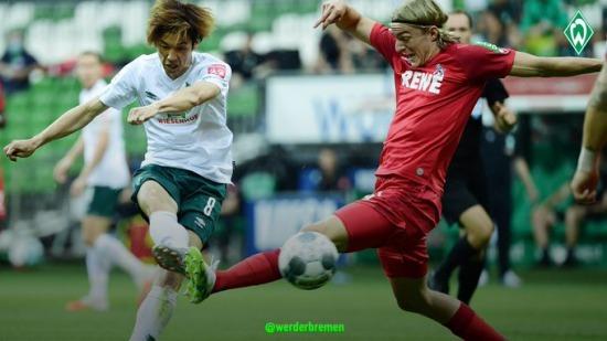 Werder Bremen 5-1 FC Köln Yuya Osako goal