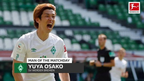 Yuya Osako elected player of the 34th round by Bundesliga