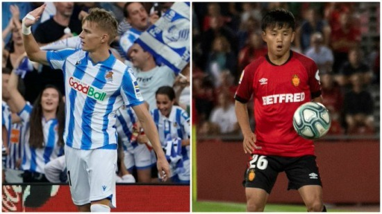 Kubo and Odegaard at Real Sociedad
