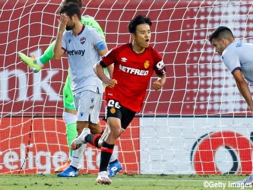 Mallorca 2-0 Levante Takefusa Kubo goal 2020