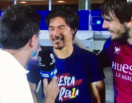 Huesca promoted to La Liga Okazaki Shinji