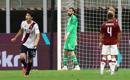 Milan 2-[1] Bologna - Takehiro Tomiyasu goal