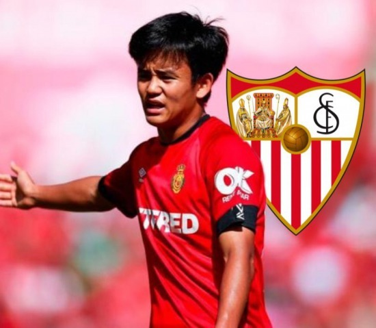 Sevilla is currently leading the race to sign Take Kubo on loan