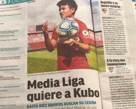 Half la liga clubs want Kubo marca