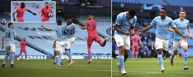 Manchester City 2-1 Real Madrid (4-2 agg) Gabriel Jesus goal be dreadful error by Raphael Varane