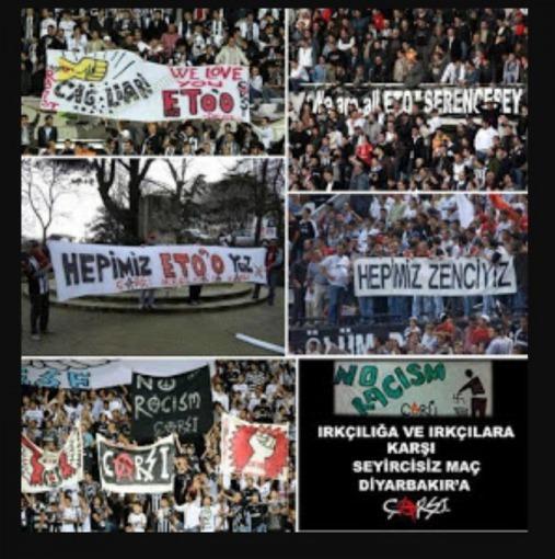 Turkish giants Besiktas NO TO RACISM