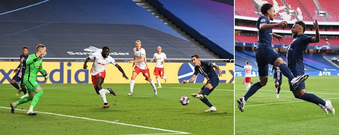 RB Leipzig vs Paris Saint-Germain Angel di Maria punishes error to double lead