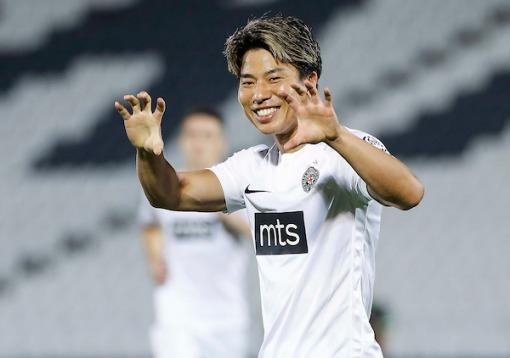 Asano takuma hattrick at Partizan