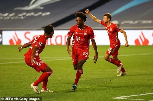 Paris Saint-Germain 0 - [1] Bayern Munich Coman goal