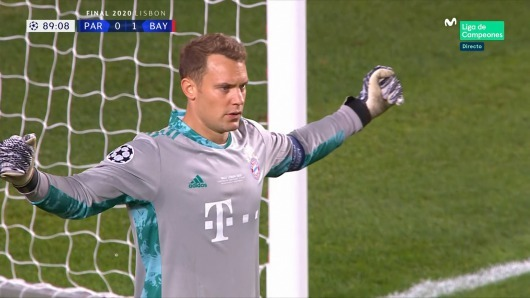 Neuer makes a magnificent save with his foot to deny Kylian Mbappe