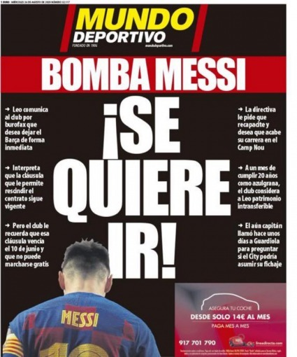 Lionel Messi has told Barcelona that he wants to leave