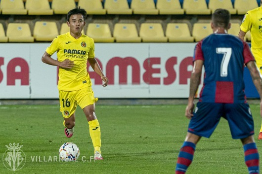 Kubo pre season at villarreal against levante