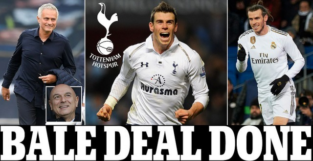 Tottenham have completed the loan signing of Gareth Bale