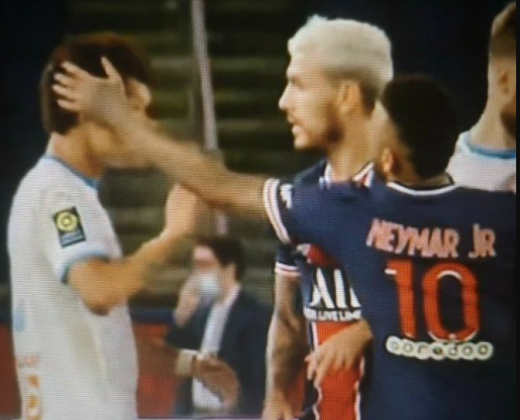 "Olympique de Marseille has some images showing that Neymar calls Hiroki Sakai ""Chinese shit"""