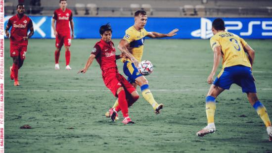 Maccabi Tel Aviv 1-[2] RB Salzburg - Masaya Okugawa goal