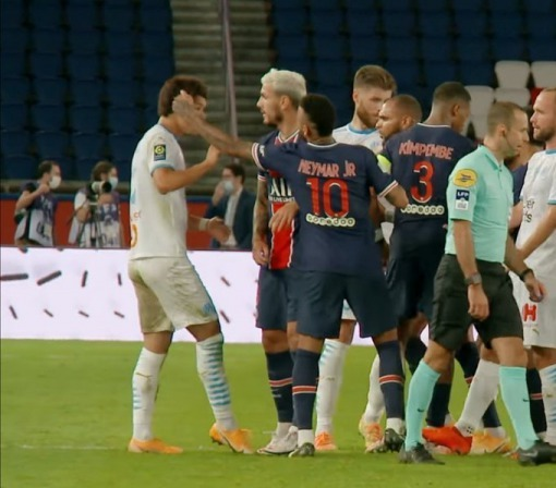 OM had images proving that Neymar had made racist remarks against Sakai