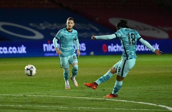 Lincoln 0-2 Liverpool Minamino takuki goal