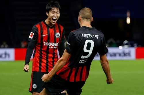 Japan Kamada assist guides Eintracht to Hertha win