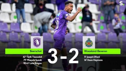 Beerschot 3-2 Beveren Suzuki Musashi goal