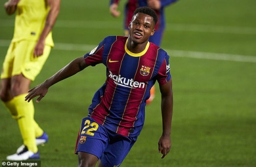 Ansu Fati scored a brace as Barcelona beat Villarreal 4-0 in Ronald Koemans first game