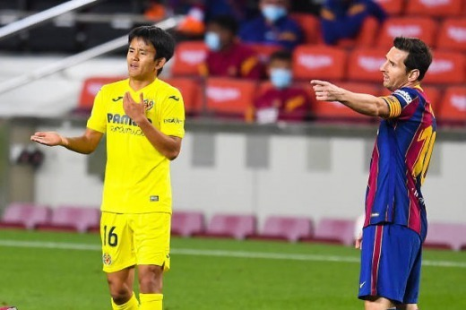 Takefusa Kubo vs messi at camp nou 2020