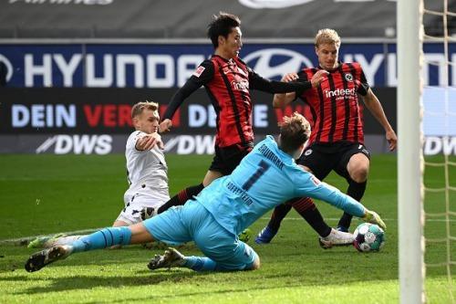 Kamada goal frankfurt 2_1 hoffenheim