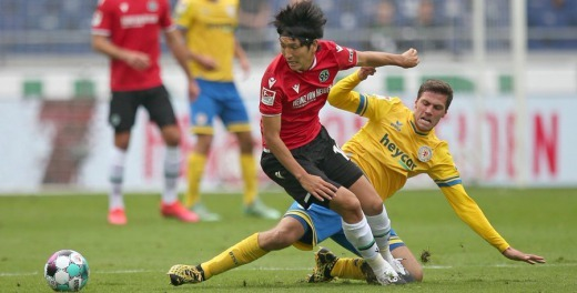 Haraguchi goal at Nierdersachsen-Derby 4_1