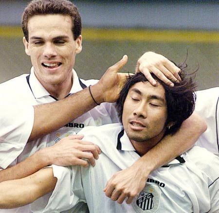 Santos 1x1 Portuguesa em 1998 Masakiyo Maezono goal